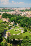 Aerial view of Vatican Gardens, Rome. Aerial photo of the Vatican Gardens in Rome, Italy Stock Photography