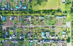 Aerial photo of vegetable gardens in Oudewater Stock Photography