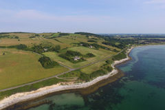 Aerial view of Vejrhoej Arch, Denmark Royalty Free Stock Images