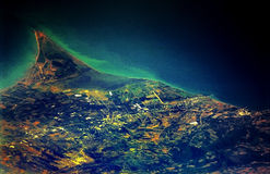 Aerial View of Venezuela. A high altitude view of the Venezuelan country side from an airplane Royalty Free Stock Image
