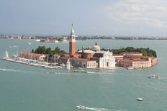 An aerial view of Venice Royalty Free Stock Photos