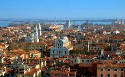 Aerial view of Venice city Stock Images