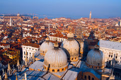 Aerial view of Venice city Stock Photos