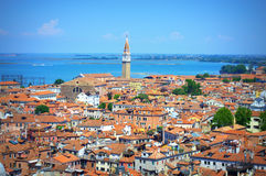 Aerial view Venice cityscape Italy Stock Images