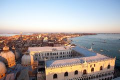 Aerial view of Venice at dawn, Italy royalty free stock image