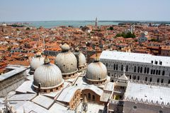 Aerial view of Venice, Italy stock image