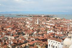 An aerial view of Venice - Italy Royalty Free Stock Photos