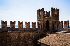 Ancient city walls at SIRMIONE Stock Photo