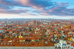 Aerial view at Venice.Italy Stock Images