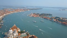 Aerial view of Venice Italy stock video footage