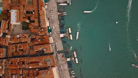 Aerial view of Venice Italy stock video