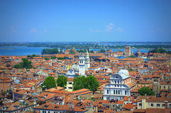 Aerial view Venice Italy Stock Photography