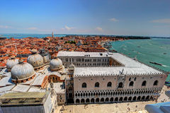 Aerial view of Venice, Italy. Venice, Italy, seen from San Marco bell tower Stock Image