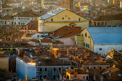 Aerial view of Venice, Italy. Royalty Free Stock Photo