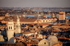 Aerial view of Venice, Italy. Royalty Free Stock Images