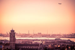 Aerial view of Venice, Italy. Stock Images