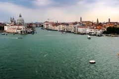 Aerial view of venice with its channels. royalty free stock image