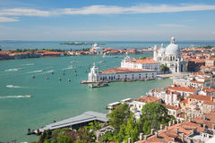 Aerial view of Venice and its lagoon Royalty Free Stock Photography