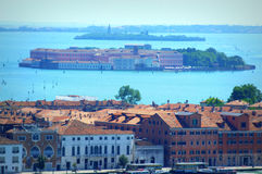 Aerial view Venice lagoon islands Italy Royalty Free Stock Image