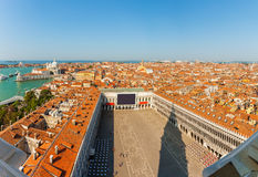 Aerial view of Venice. Piazza San Marco from tower. Italy Royalty Free Stock Photo