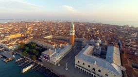 Aerial view of venice stock video footage