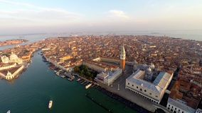 Aerial view of venice stock video