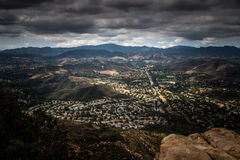 Aerial View of Ventura County, Thousand Oaks, Simi Valley, and Oak Park from Simi Peak Royalty Free Stock Photo