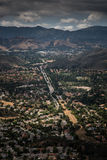 Aerial View of Ventura County, Thousand Oaks, Simi Valley, and Oak Park from Simi Peak Royalty Free Stock Images