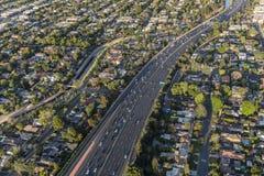 Los Angeles Ventura 101 Freeway Aerial Royalty Free Stock Photography