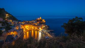 Aerial view of Vernazza, Cinque Terre, Italy Stock Image