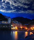 Aerial view of Vernazza - small italian town in Stock Photo