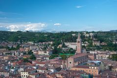 Aerial view of Verona. An aerial view of Verona, Italy Royalty Free Stock Images