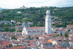 Aerial view of Verona Royalty Free Stock Photo