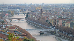 Aerial view of Verona, Italy Stock Photography