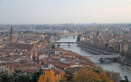 Aerial view of Verona, Italy Royalty Free Stock Photography