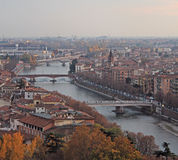 Aerial view of Verona, Italy Royalty Free Stock Image