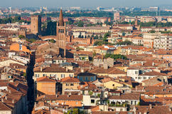 Aerial View of Verona - Italy Stock Photography