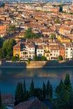 Aerial View of Verona - Veneto Italy Royalty Free Stock Images