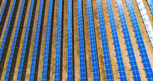 Aerial view of vertical solar panel pattern Stock Image