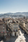 Aerial view of via Po in Turin, Italy Stock Photography