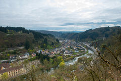 Aerial view of the Vianden Stock Photos