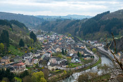 Aerial view of the Vianden Stock Images