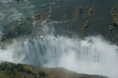 Aerial view Victoria Falls Stock Photo