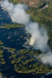 Aerial view of Victoria Falls with bridge Royalty Free Stock Image