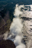 Aerial view of Victoria Falls creating spray Royalty Free Stock Photo