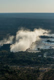 Aerial view of Victoria Falls from helicopter Stock Photos