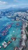 Aerial, Hong Kong Stock Photo