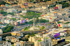 Aerial view of victory monument Stock Image