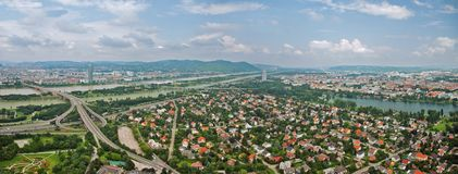Aerial view of Vienna from royalty free stock images