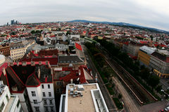 Aerial view of Vienna Royalty Free Stock Photography